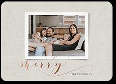 contemporary glee christmas card
