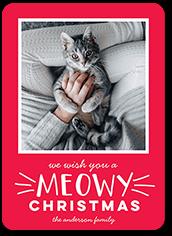 meowy holiday christmas card