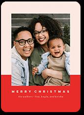 colorblock christmas christmas card