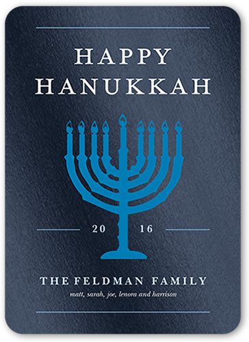 Glowing Menorah Hanukkah Card