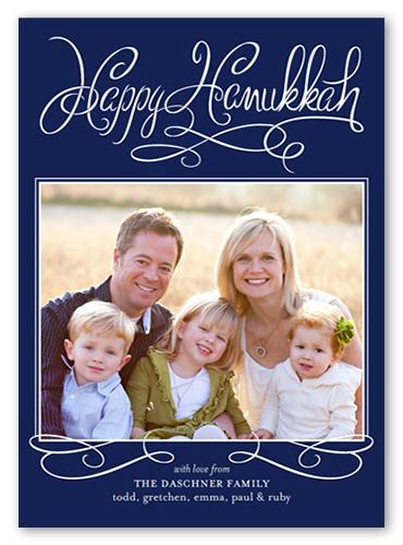 Handwritten Delight Hanukkah Card, Square Corners