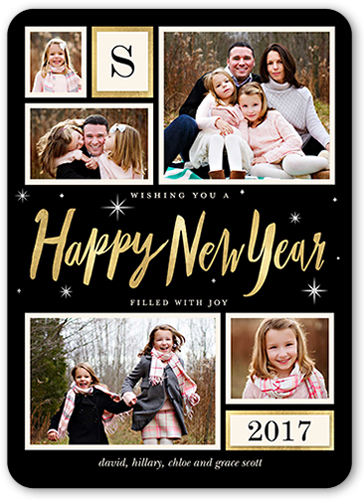 Twinkling New Year New Year's Card