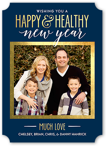 Happy And Healthy New Year's Card