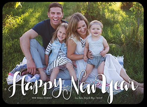 Annual Script New Year's Card