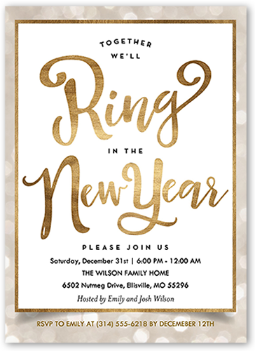 Confetti Splendor New Year's Invitation