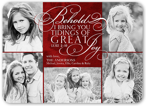 Tidings Of Great Joy Religious Christmas Card