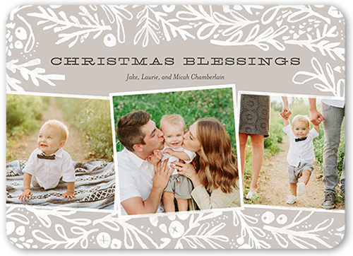 Foliage Blessings Religious Christmas Card