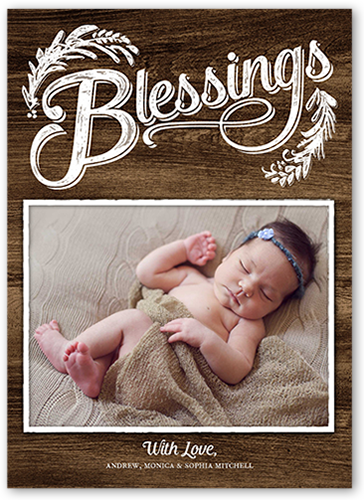 Bold Blessings Religious Christmas Card