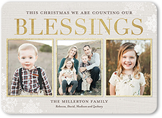 counting framed blessings religious christmas card - Religious Christmas Cards