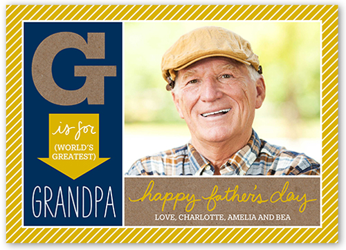 Greatest Grandpa Father's Day Card, Square Corners