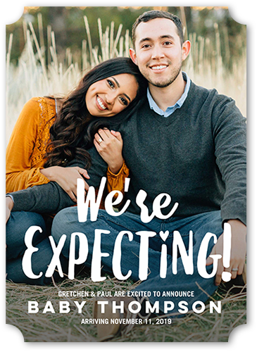 expecting parents 5x7 pregnancy announcement card shutterfly