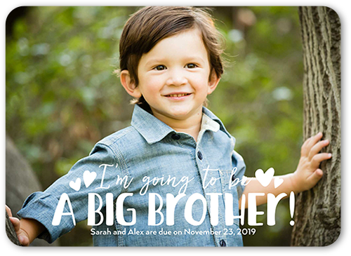 Big Brother 5x7 Birth Annoucements   Shutterfly
