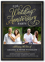 wedding anniversary invitations shutterfly