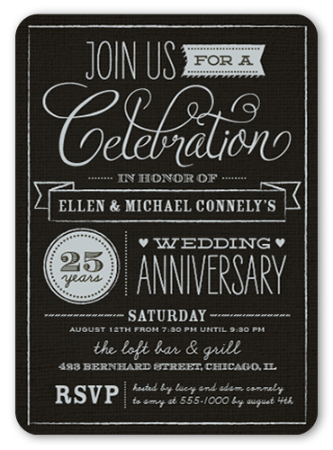 Wonderful Years X Invitation  Wedding Anniversary Invitations
