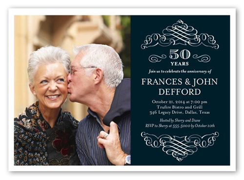 Memorable Years 5x7 Invitation Wedding Anniversary