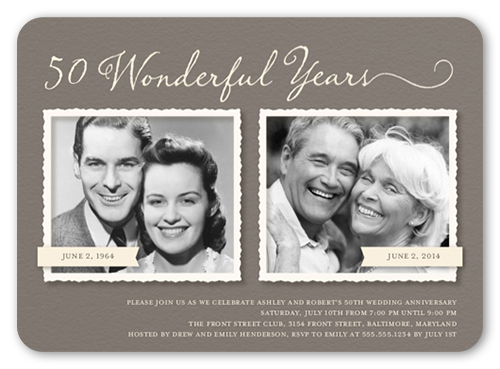 Romance remembered 5x7 invitation wedding anniversary invitations front stopboris Choice Image