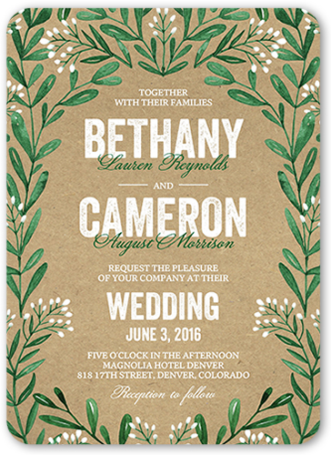 Exquisite Filigree Wedding Invitation, Square