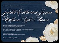 flowering fondness wedding invitation 5x7 flat
