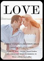 love out loud wedding invitation 5x7 flat