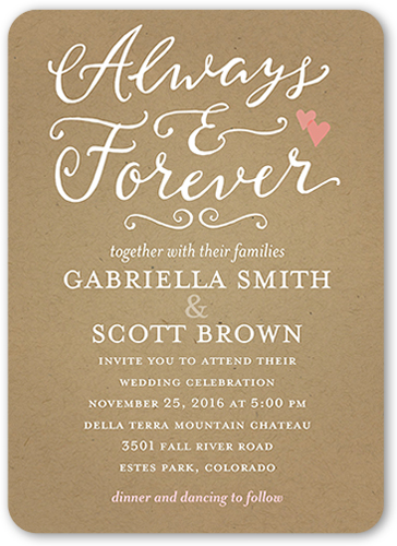 forever hearts wedding invitation - Shutterfly Wedding Invitations