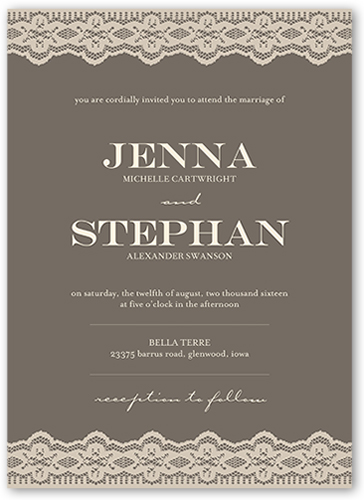 lovely lace border wedding invitation - Shutterfly Wedding Invitations