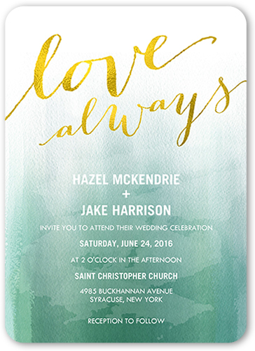 forever in love wedding invitation - Shutterfly Wedding Invitations