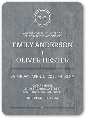 Rustic Bliss Wedding Invitation, Rounded Corners