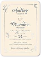 botanical border wedding invitation 5x7 flat