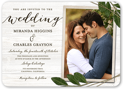 Ingrained Love Wedding Invitation, Rounded Corners