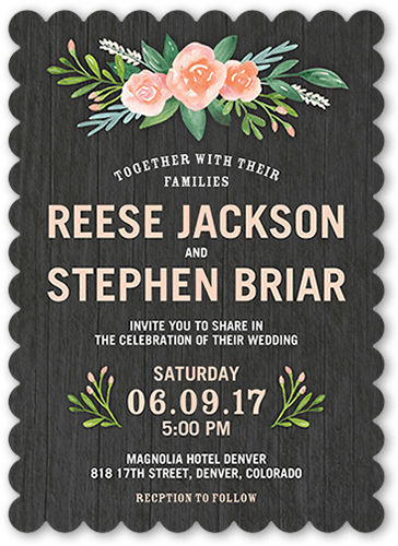 floral bouquet wedding invitation - Shutterfly Wedding Invitations