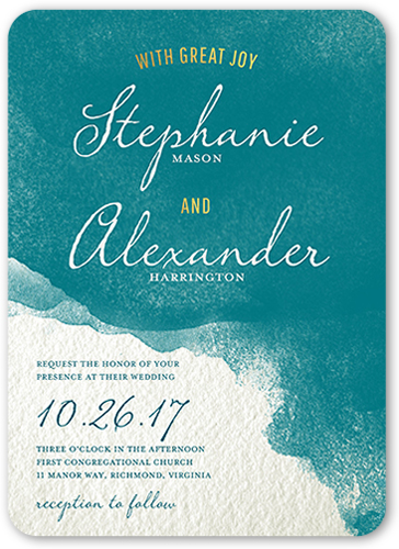 perfect watercolor wedding invitation - Shutterfly Wedding Invitations