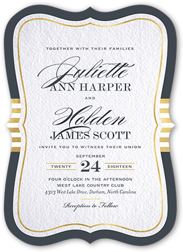 Faded Scroll 5x7 Wedding Invitations Shutterfly