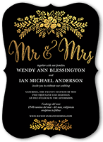 fabulous floral wedding invitation 5x7 flat
