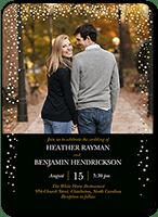 sparkling romance wedding invitation 5x7 flat