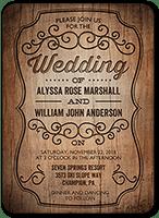 rustic romance wedding invitation 5x7 flat