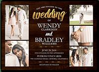 radiant devotion wedding invitation 5x7 flat