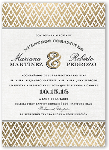 Amor Radiante Wedding Invitation, Square Corners