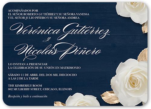 flores de amor wedding invitation
