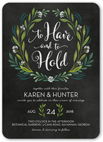 forever foliage wedding invitation 5x7 flat