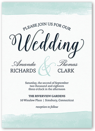 classic watercolor border 5x7 wedding invitations shutterfly