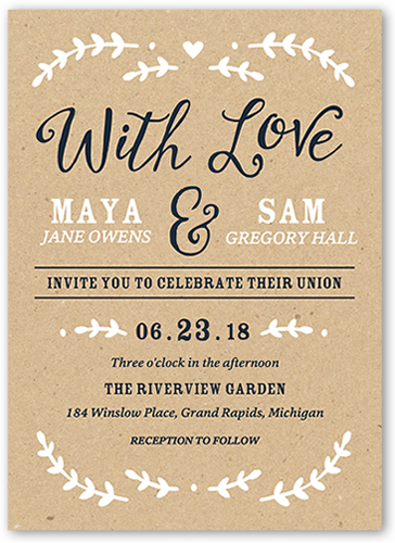 Forever Begins With You Wedding Invitation, Square Corners