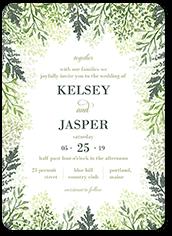 graceful lavender wedding invitation