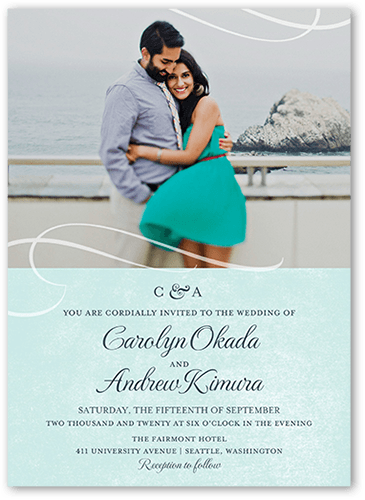 Delightful Union Wedding Invitation, Square Corners