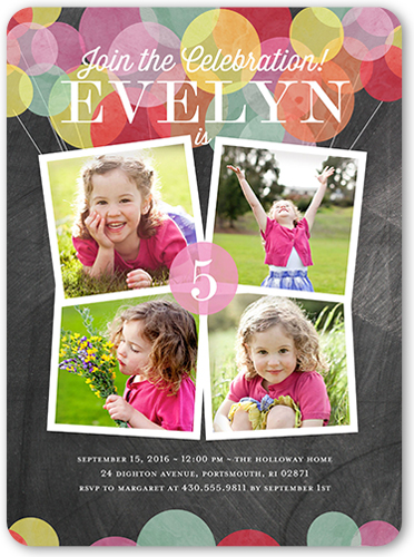 5th Birthday Invitations