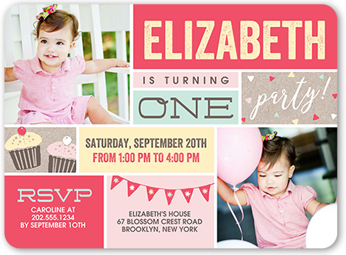 Colorful Affair Birthday Invitation, Rounded Corners