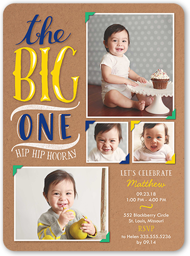 Big Scrapbook Boy Birthday Invitation