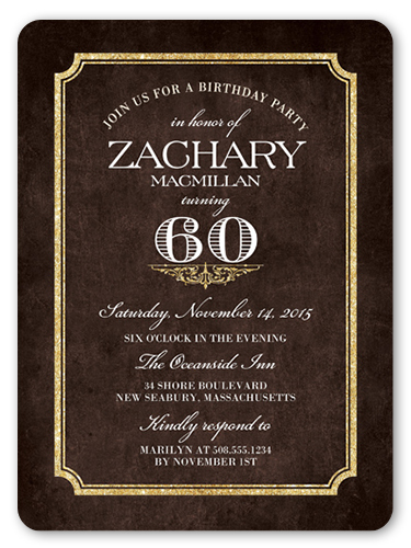 Shining Elegance Birthday Invitation, Rounded Corners