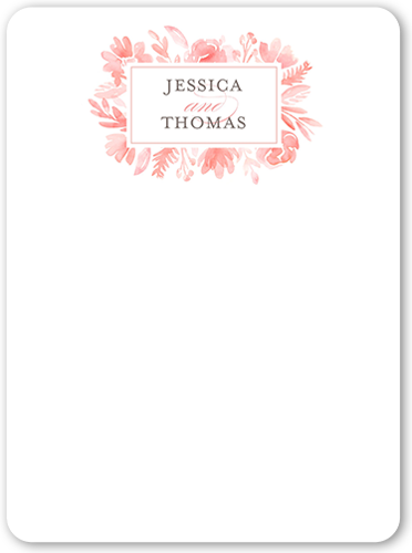 Watercolor Florals Thank You Card