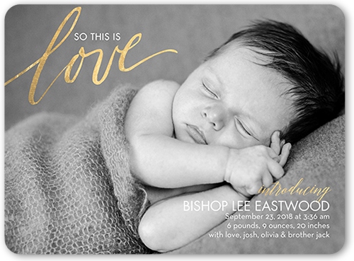 This is Love Birth Announcement