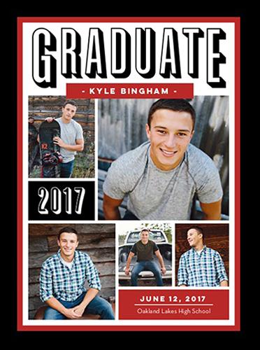 Refined Class Grad Graduation Announcement